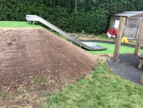 Artificial grass at Rockwell Green School (Before)