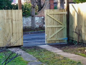 Closeboard fencing & gates constructed for a job in Taunton