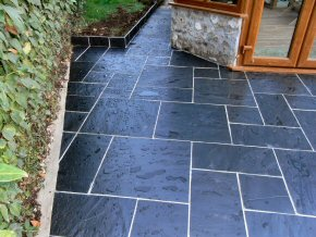 Attractive paved area