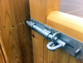 Gate lock at Neroche Primary School