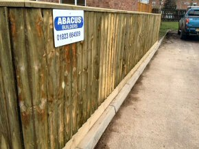 Extend driveway width and supply new 1.2m close board fence. Chaffinch Close, Taunton
