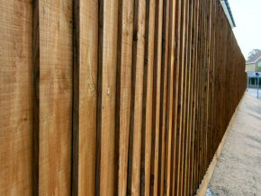 Close board fence on timber posts in Taunton