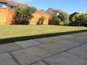Landscaped rear garden at Parrot Mead, Taunton